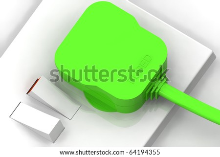 A Colourful 3d Rendered 'Green Energy' 3d Rendered Illustration