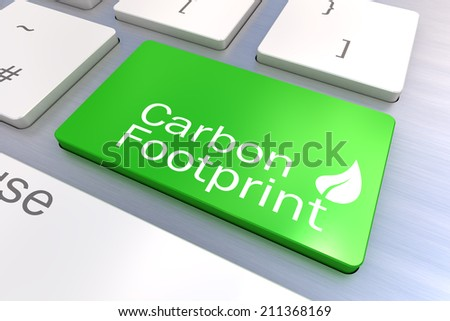 A Colourful 3d Rendered Illustration showing a Green Eco Concept on a Computer Keyboard - stock photo
