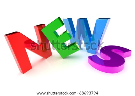 A Colourful 3d Rendered 'News' Concept Illustration