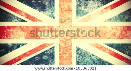 A Colourful Grungy Vintage Union Jack Photo - stock photo
