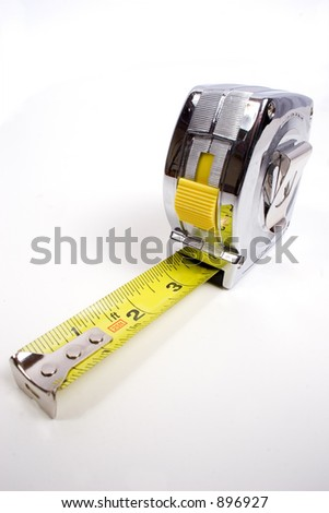 a common construction or home tape measure - stock photo