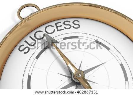 A Compass pointing to success