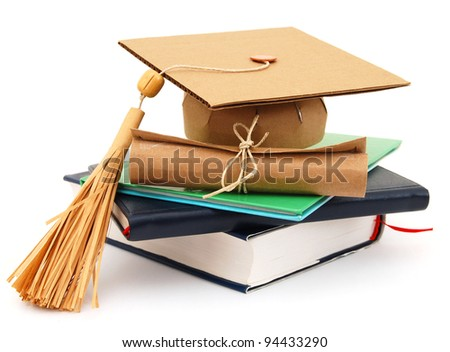 A completed graduating degree - stock photo