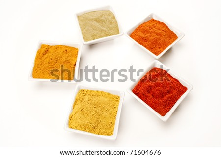 A composition with different spice