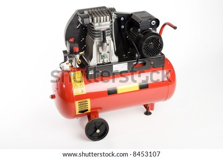 a compressor for small tools or cleaning - stock photo