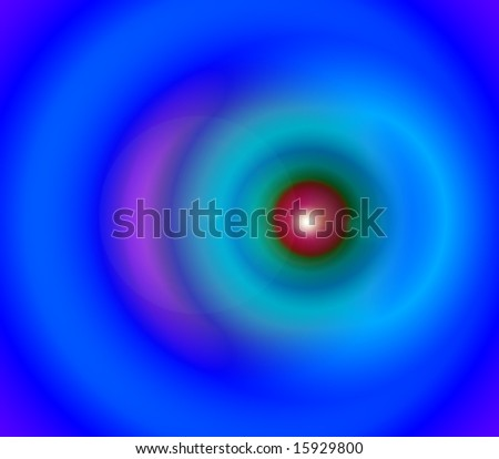 A computer generated abstract illustration of a storms eye. - stock photo
