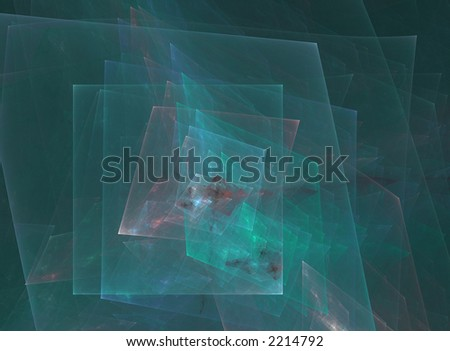 A computer generated abstract image; fractal blue design - stock photo