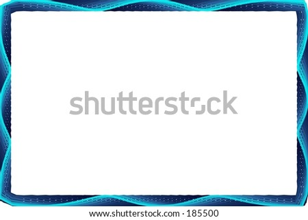 A computer generated frame in shades of blue. - stock photo