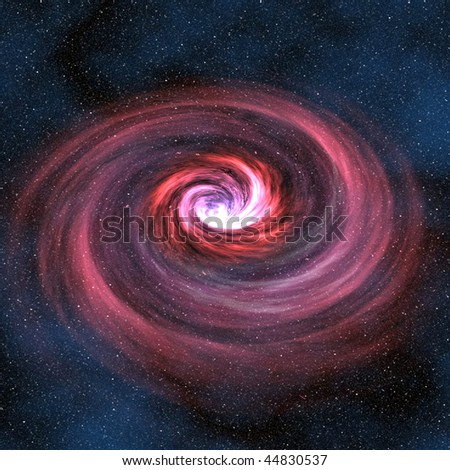 A computer graphic rendering of a worm hole - stock photo