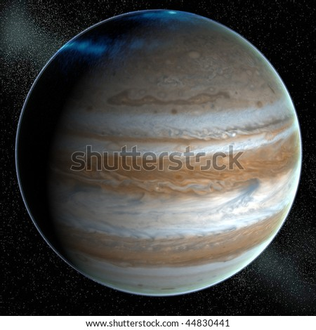 A computer graphic rendering of Jupiter - stock photo