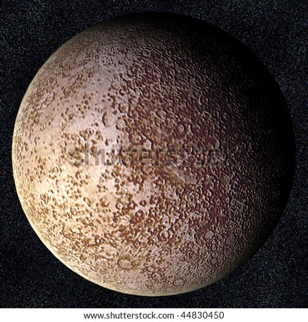 A computer graphic rendering of Mercury - stock photo