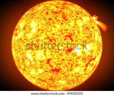 A computer graphic rendering of the Sun - stock photo