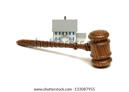 A concept based on mnay housing legalities. - stock photo