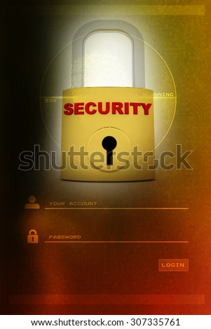 A concept graphic depicting a folder/file security concept