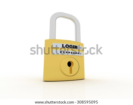 A concept graphic depicting a folder/file security concept - stock photo