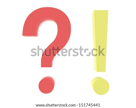 A concept graphic depicting a question mark concept. Rendered against a white background with a soft shadow and reflection.