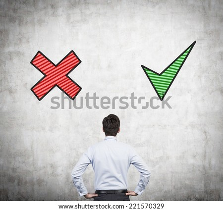A concept of making a choice. - stock photo