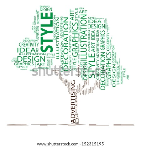 A concept or conceptual abstract tree shape isolated on white background metaphor to design,graphic,nature,ecology,child,young,idea,style,creative,fashion,artist ,art,decor abstract project - stock photo