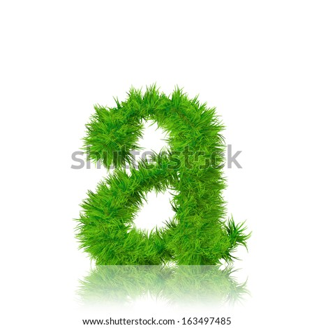 A concept or conceptual set or collection of green grass,eco font isolated on white background,ideal for nature,summer,spring,alphabet,ecology,environment,plant,winter,ecological,conservation design