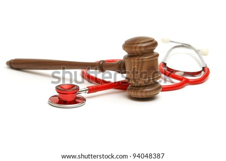 A concept related to a medical lawsuit in the legal system. - stock photo