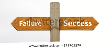 A concept signpost pointing to success or failure - stock photo