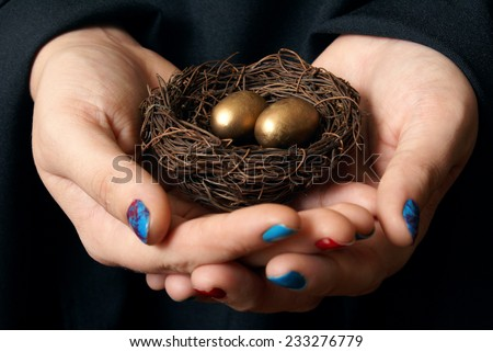 A conceptual based image on the importance of securing your assets for future gains. - stock photo