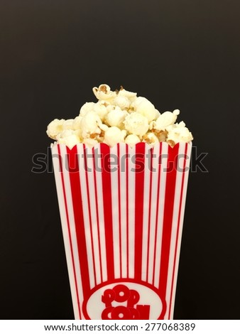 A conceptual close up shot of popcorn - stock photo