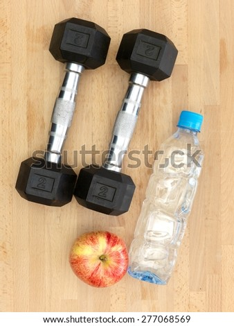 A conceptual health and fitness diet image - stock photo