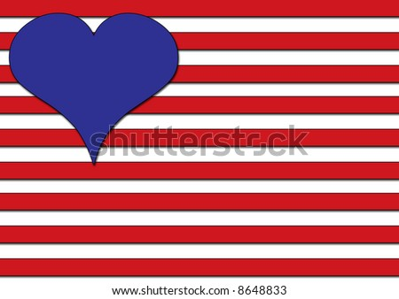 A conceptual illustration of Love in the USA