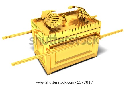 a conceptual illustration of the ark of the covenant - stock photo