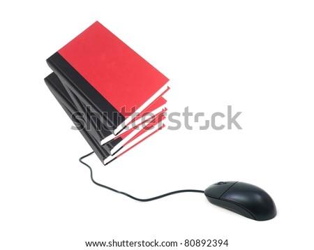 A conceptual image of a modern e book reader - stock photo