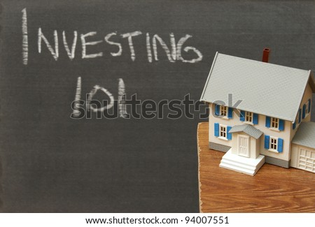 A conceptual image related to investments in real estate. - stock photo