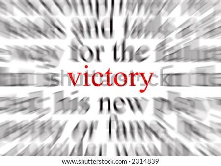 A conceptual image representing a focus on victory