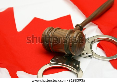 A conceptual images related to the theme of Canadian Jurisdiction. - stock photo