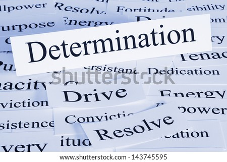 A conceptual look at determination, drive, conviction, resolve. - stock photo