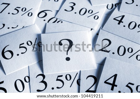 A conceptual look at variable interest rates. Where next? - stock photo