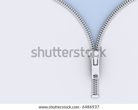 A conceptual opened zipper - rendered in 3d