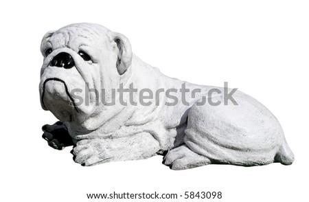 A concrete bulldog - stock photo
