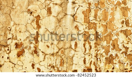 A concrete wall with the old plaster - the background - stock photo