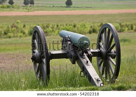 A Confederate bronze cannon at Gettysburg. - stock photo