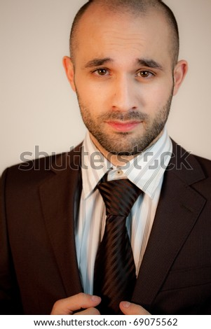A confident man with suit - stock photo