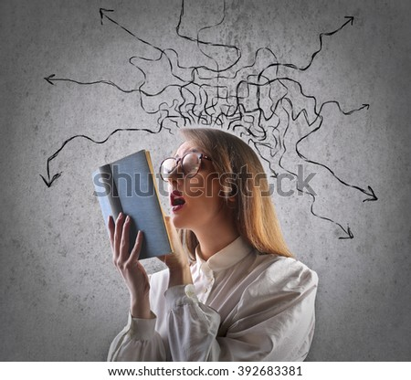 A confused mind - stock photo