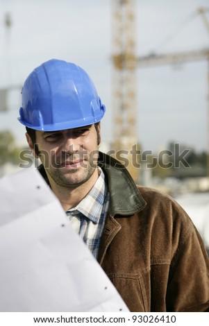 A construction foreman - stock photo