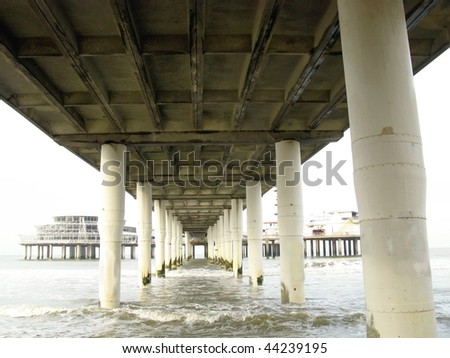A construction in perspective - stock photo
