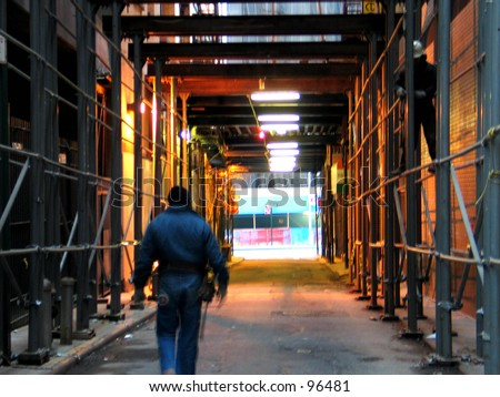 A Construction scene - stock photo
