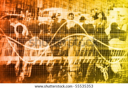 A Consumer Sales Demographic Graph Speadsheet Art - stock photo