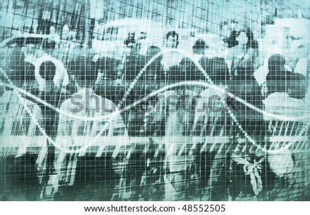 A Consumer Sales Demographic Graph Spreadsheet Art - stock photo