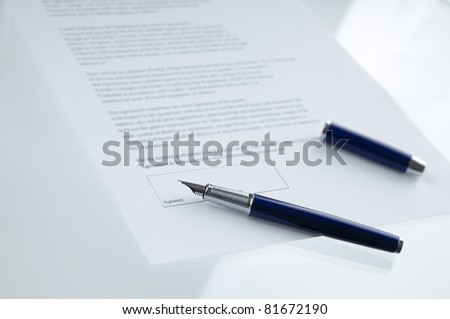 A contract ready to be signed