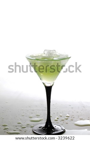 a cool iced drink - stock photo