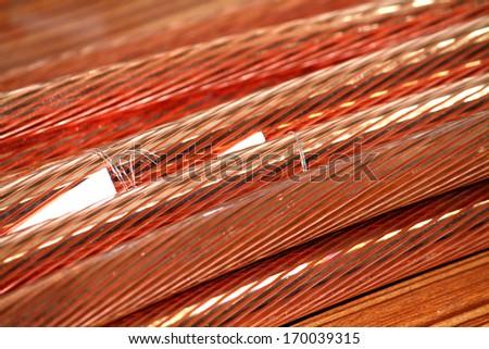 A copper wire - stock photo